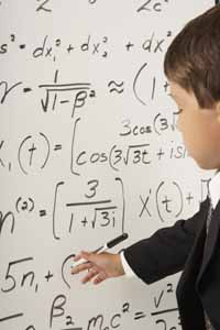 Boy with Equations